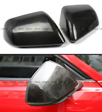 CARBON FIBER SIDE MIRROR COVERS FOR 2015-17 6TH GEN FORD MUSTANG WITH LED SIGNAL