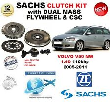 FOR VOLVO V50 1.6 D MW 110bhp CLUTCH KIT 2005-2011 SACHS with FLYWHEEL BOLTS CSC