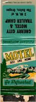 CHERRY CITY MOTEL The Dalles, Oregon Matchcover Matchbook Vintage Advertising