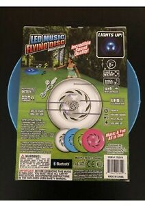 NEW LED Music Flying Disc Frisbee Wireless speaker Rechargeable Blue