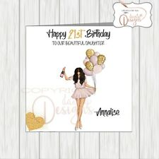 Personalised Birthday Card 16th 18th 21st Daughter Granddaughter Sister Niece