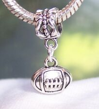 Football Ball Sports NFL AFL College Dangle Bead for European Charm Bracelets