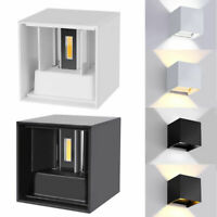LED COB Wall Light 12W Modern  Up Down Cube Indoor Outdoor Sconce Lighting