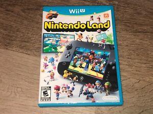Nintendo Land Nintendo Wii U w/Case Authentic