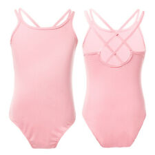 3-4Y Kid Girl Ballet Gymnastics Dance Leotards Double Straps Bodysuit Dancewear