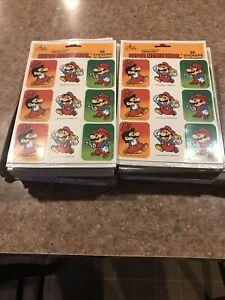 Vintage Super Mario Bros. Stickers Nintendo/Artis NEW 2 DOZ. 1989