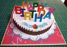 3D Pop up Birthday GREETING CARD Handmade Folding 3_D Gift Cake3 India Make