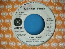 45 GIRI GRAND FUNK BAD TIME / RICHARD MYHILL LAZY LADY PROMO 1975