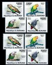 BURUNDI 2011 MNH 4v, Perf + Imperf, Parrots, Birds -