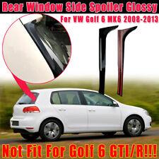 Hinten  Fenster Heckspoiler Nachrüstset Splitter Glanz ABS For VW Golf 6 MK6