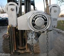 IR 1.5 Ton Ultra Lo Swivel Trolley Truck Hoist Chain Fall Chester Low Headroom
