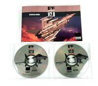EF 2000 V2.0 PC Game Flight Simulator Discs & Operating Manual MS-DOS/Windows 95