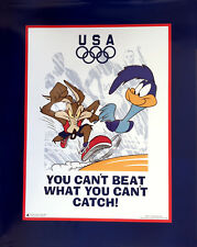 """Looney Tunes Olympics, Road Runner and Wile E. Coyote 16"""" x 20"""""""