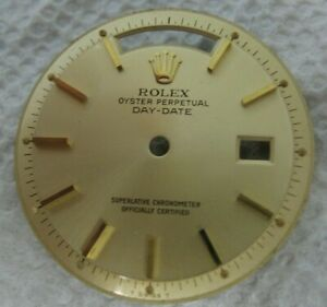 Vintage Rolex Oyster Perpetual Day Date 1803 Pie Pan Men's Wrist Watch Dial