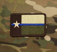 Arid Thin Blue Line TEXAS State Flag Patch, LEO