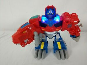 "Playskool - Transformers Rescue Bots - Optimus Primal - 9"" Talk & Roar Dinosaur"