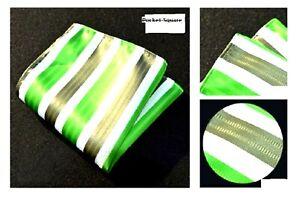Buy2) Men's Solid Stripes Wedding Mix Patterns Pocket Square Hanky Gifts