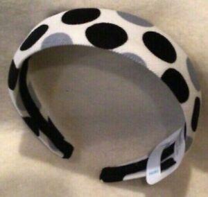 The Children's Place Polka Dot Headband for Girls - Black/Grey/White - New/NWT