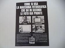 advertising Pubblicità 1969 POLAROID