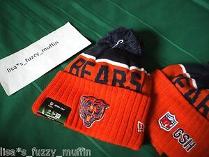 Chicago Bears New Era knit pom hat beanie NWT On Field Classic AUTHENTIC 2015 !!