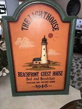 Custom Bed and Breakfast Sign Rustic Hand Made Vintage Wooden Sign ENS1000150