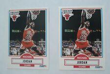 Michael Jordan 2 Card Lot of 1990-91 Fleer Card #26....Chicago Bulls Great