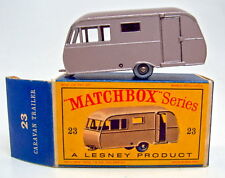 "Matchbox 23C Bluebird Caravan braunmetallic silberne Räder top in ""D"" Box"