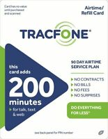 TracFone 200 Minute Plan - 90 Days/200 Minutes/200 Text/200MB Data