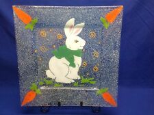 Fused Glass Easter Bunny Platter