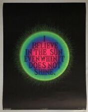 Believe Original Vintage Blacklight Poster Psychedelic Pin-up Retro UV Day Glow