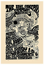 Rock: Jim Morrison & The Doors at San Francisco Poster 1967 3rd PRINTING