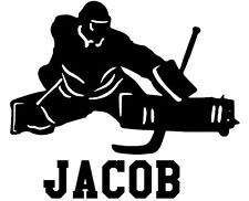 HOCKEY GOALIE wall decal stickers personalized with your NAME