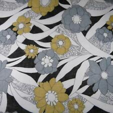 Lovely Sheer Floral Voile, Large Flowers, Gray, Gold & Ivory, Per Yard