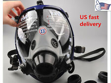 US Anti-dust Full Face Mask Facepiece Respirator Painting Spraying Gas For 3M