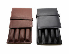 4 Pen Case Leather - Black