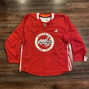 adidas Washington Capitals Authentic Practice Hockey Jersey NHL Size 58 CR4025