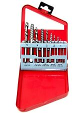 10pc Screw Extractor  Left Hand  Drill Bit Set Easy Out Broken Bolt Remover New
