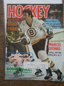 HOCKEY World Feb 76 Brad Park Bobby Hull WHA Marcel Dionne Bryan Trottier