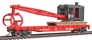 Walthers Trainline HO Scale Flatcar/Logging Crane Canadian Pacific/CP #304860
