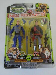 The Corps Dual Team Mission Lanard Toys Poseable Figures rain, roadrash read