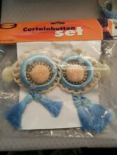 Vintage Curtainbutton Decorations Set blue new in package