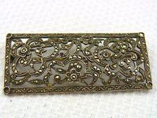 Bella vecchia spilla 800/- Argento con markasiten per circa 1900