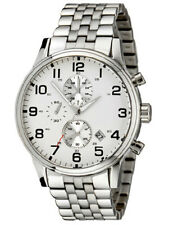 BRAND NEW HUGO BOSS STAINLESS STEEL CHRONOGRAPH SILVER DIAL MEN WATCH HB1512445