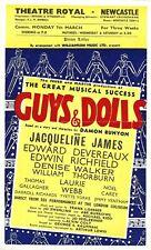 """Frank Loesser """"GUYS & DOLLS"""" Laurie Webb / Edward Devereaux 1955 Newcastle Flyer"""