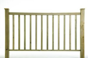 1.2m Square Newell Post, Spindles & Hand Rail - Timber Decking Balustrade £1.60