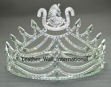 Daughter of Isis Crown in silver tone with all white rhinestones, DOI CROWN