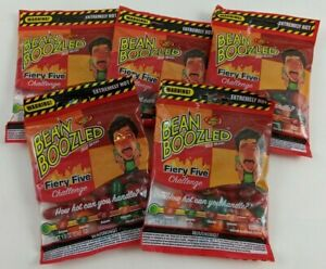 BeanBoozled Fiery Five Challenge Jelly Belly Beans LOT 5 New Hot Candy 1.9 oz