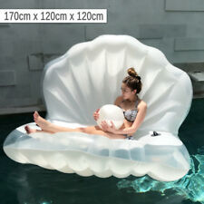 Mermaid Shell with Pearl Beach and Pool Floaters