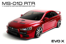 MST MS-01D RTR 1/10 Scale 4WD Electric RC Drift Car (2.4G)w/carbody- EVO X(Red)