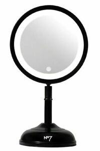 No7 Look Your Best Cordless Black Illuminating Makeup Mirror